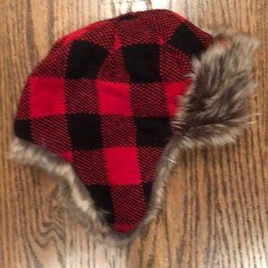 778dabe6d21 GAP Accessories - Baby Kids XS buffalo plaid fur hat